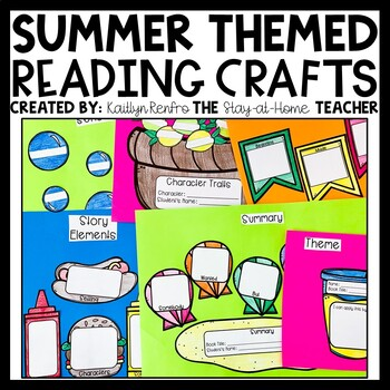 Fiction Reading Comprehension Craftivities - SUMMER