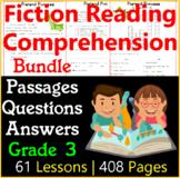 Fiction Reading Comprehension Passages & Questions | Bundle | Grade 3
