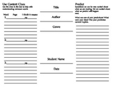 Fiction Reading Comprehension Tri-Fold