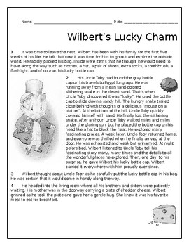 Fiction Reading Passage - Wilbert's Lucky Charm