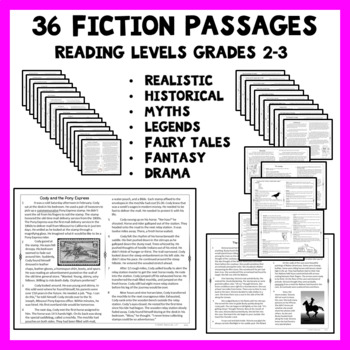 Reading Passages Fiction for 2nd Grade and 3rd Grade