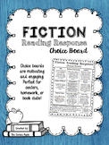Fiction Reading Response Choice Board