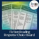 Fiction Reading Response Choice Board