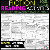 Fiction Reading Response Graphic Organizers | PRINT & DIGI