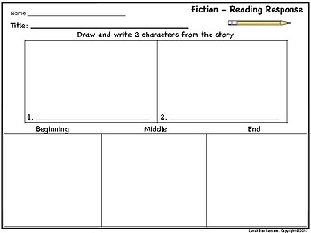 Fiction-Reading Response Journal *Free*