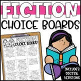 Fiction Reading Response Menu or Choice Board
