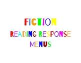 Fiction Reading Response Menus