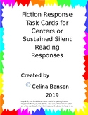 Fiction Reading Response Task Cards in Word