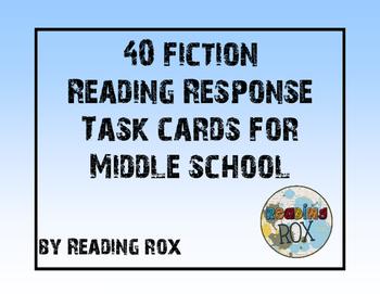 Reading Response Task Cards-FICTION
