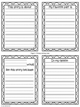 Fiction Reading Response ~ an Accordion-Fold Mini-Book Activity