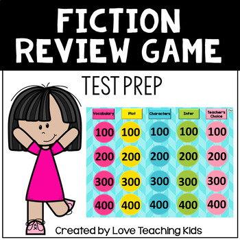 Fiction Reading Review Game- Test Prep