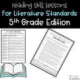 Fiction Reading Skills Lessons 5th Grade Edition