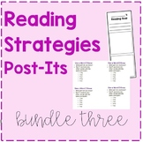 Fiction Reading Strategy Post-Its Bundle 3