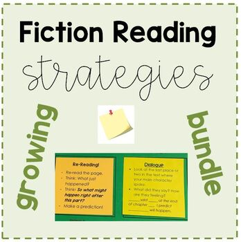 Fiction Reading Strategy Post Its - GROWING BUNDLE