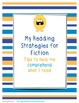 Fiction Reading Strategy Sheets for Guided and Independent