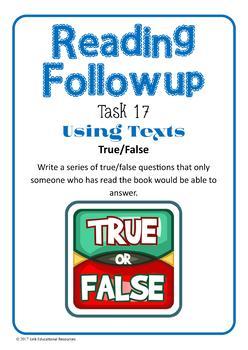 Fiction Reading Task Cards: Set 3