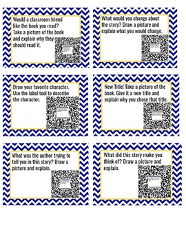 Fiction Reading Task Cards Using Seesaw