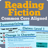 Fiction Reading Unit (Common Core Aligned)