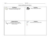 Fiction Reciprocal Teaching Worksheet