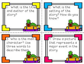 Fiction Response Task Cards