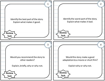Fiction Analysis and Review Activities, for Any Novel or Short Story-PDF