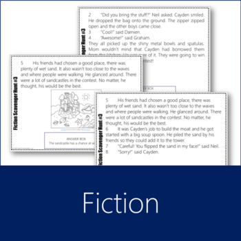 Fiction Scavenger Hunt 3 (Inferences, Sensory Language, Plot)