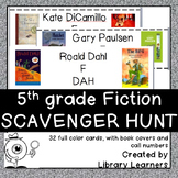 Fiction Scavenger Hunt for Fifth Grade Readers
