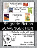 Fiction Scavenger Hunt for Fifth Grade Readers: Editable Version