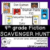 Fiction Scavenger Hunt for Fourth Grade Readers