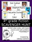 Reading Fiction Scavenger Hunt Fourth Grade Editable Version