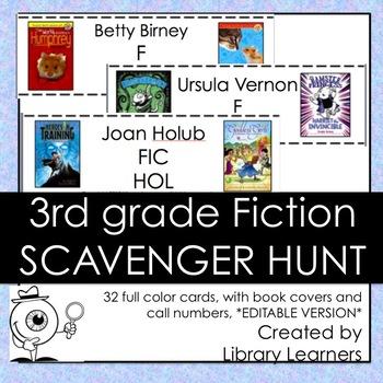 Fiction Scavenger Hunt for Third Grade Readers: Editable Version