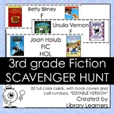 Fiction Scavenger Hunt for Third Grade Readers: Editable Version