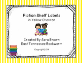 Editable Fiction Labels for Shelf Markers in Yellow
