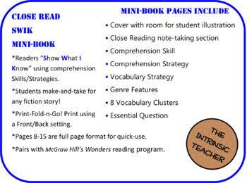S.W.I.K Fiction Skill/Strategy Mini-Book