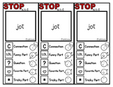 "Fiction ""Stop and Jot"" Bookmarks"
