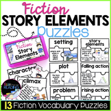 Fiction Story Elements Activity | 13 Elements of Fiction Vocabulary Puzzles