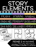 Fiction Story Elements Posters & Activities