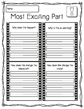Fiction Story Line Graphic Organizers