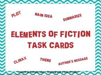 Fiction Story Plot Elements Task QR Cards