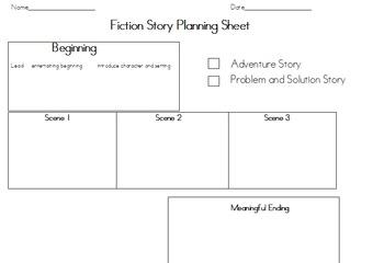 Fiction Story Scene Planner