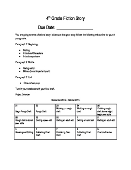 Fiction Story Writing Assignment