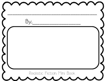 Fiction Student Book Template