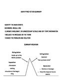 Fiction Summary Anchor Chart