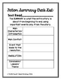 Fiction Summary Checklist