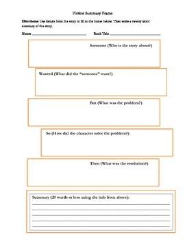 Fiction Summary Frame