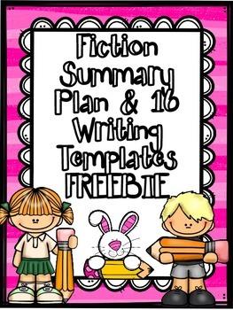 Fiction Summary Writing Plan & Summary Writing Templates FREEBIE