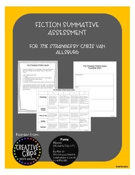 Fiction Summative Assessment for The Stranger by Chris Van Allsburg