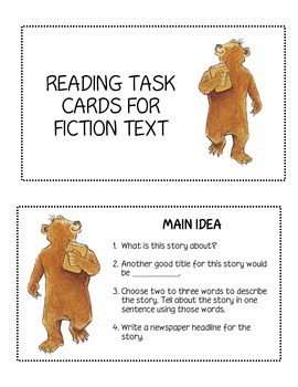 Fiction Task Card Bundle Set