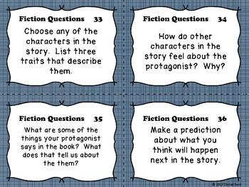 Fiction Task Cards - Any story or novel