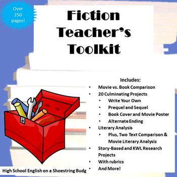 Fiction Teachers Toolkit, for Any Story - Fully Editable Word Version
